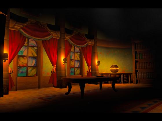 Die Ritterschule bei Nacht